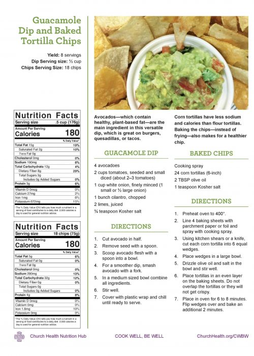 Week 1 recipes_Guacamole and Baked Chips (1)
