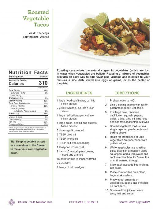 Week 1 recipes_Veggie Tacos