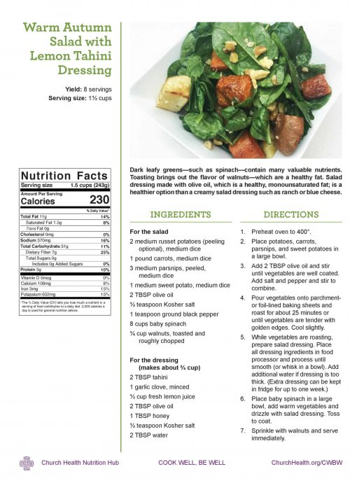 Week 1 recipes_Warm Autumn Salad