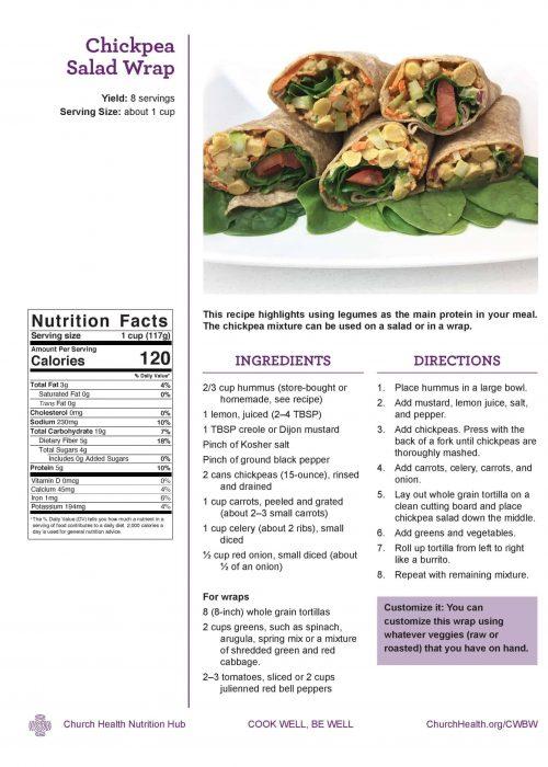 Week 2 recipes_Chickpea Salad Wrap