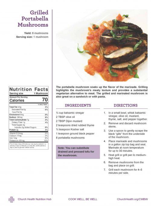 Week 2 recipes_Grilled Portabella
