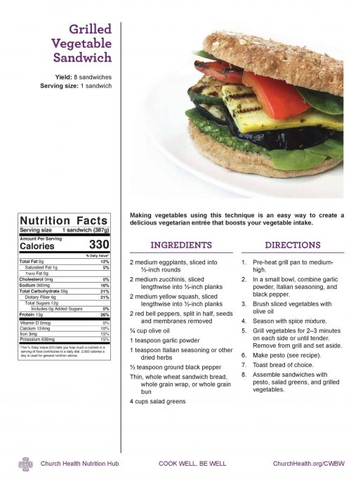 Week 2 recipes_Grilled Veg Sandwich