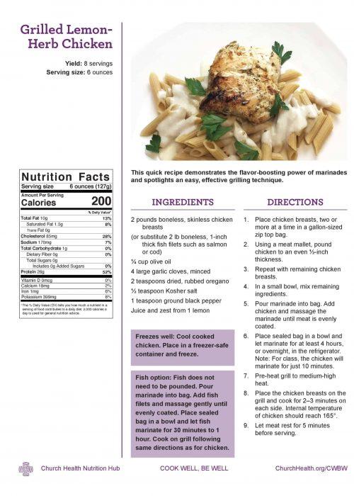 Week 2 recipes_Lemon Herb Chicken