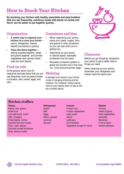 Week 3 HANDOUTS_Stock Your Kitchen