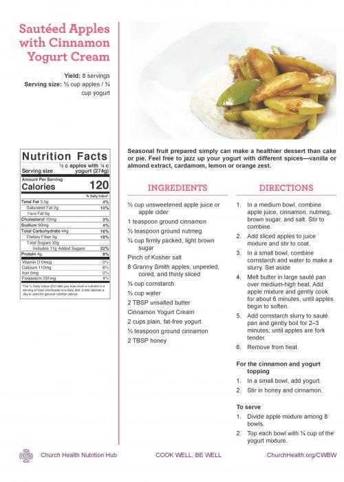 Week 3 recipes_Apples with Yogurt