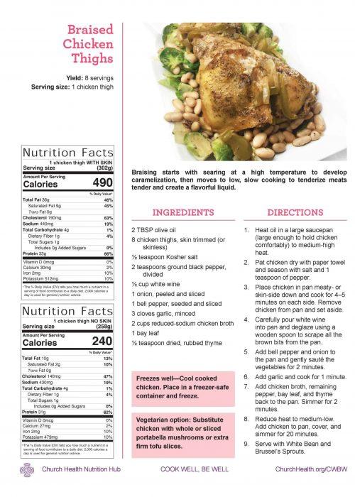 Week 3 recipes_Braised Chicken Thighs