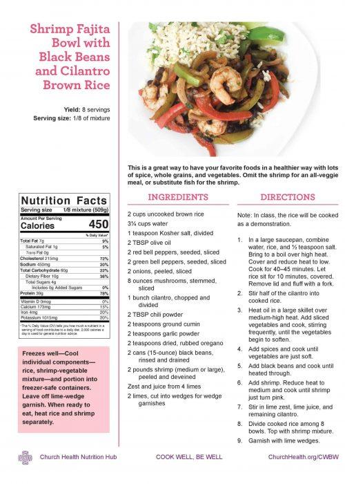 Week 3 recipes_Shrimp Fajita Bowl