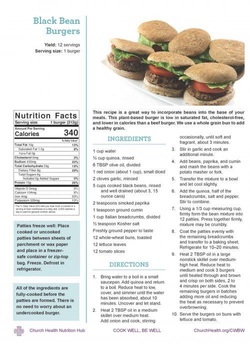 Week 4 recipes_Black Bean Burgers