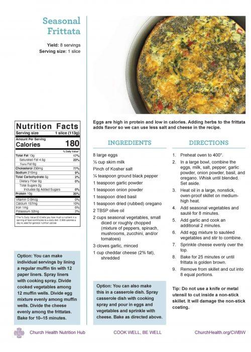 Week 4 recipes_Seasonal Frittata