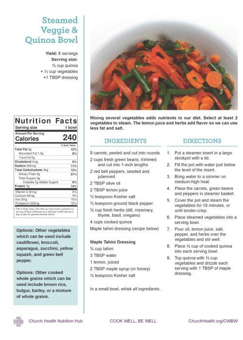 Week 4 recipes_Steamed Veggie Bowl