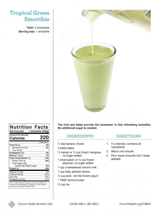 Week 4 recipes_Tropical Green Smoothie