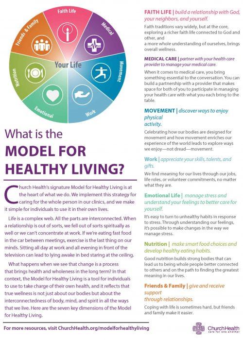 ¿Cuál es el folleto del modelo para una vida saludable?
